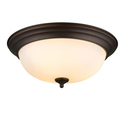 Golden Lighting 1260-15 RBZ-OP Three Light Flush Mount