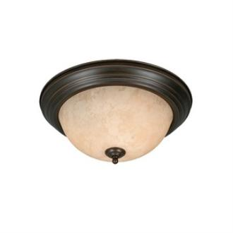 Golden Lighting 1260-15 Three Light Flush Mount