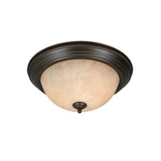 Golden Lighting 1260-15 Three Light Flush Mount