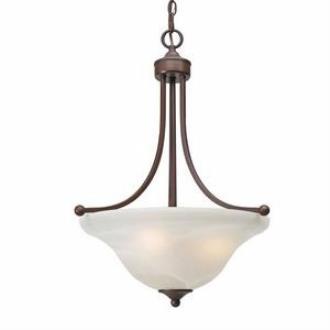 Golden Lighting 1260-3P Candace - Three Light Pendant Bowl