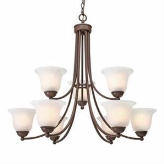 Golden Lighting 1260-9 Candace - Nine Light Chandelier