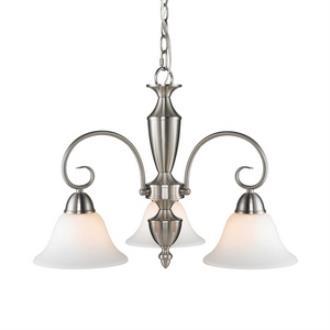 Golden Lighting 139X-ND3 PW-OP Centennial - Three Light Nook Chandelier