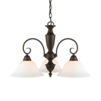 Golden Lighting 139X-ND3 RBZ-OP Centennial - Three Light Nook Chandelier