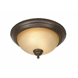 "Golden Lighting 1567-13 PC Riverton - 2 Light 13"" Flush Mount"