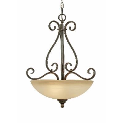 Golden Lighting 1567-3P PC Riverton - 3 Light Pendant Bowl