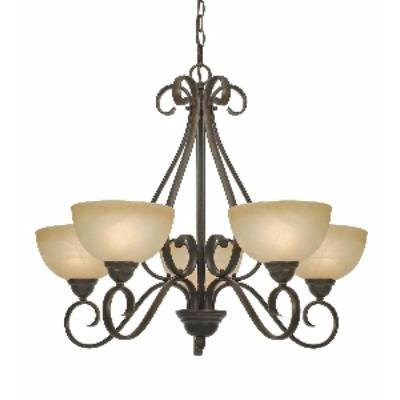 Golden Lighting 1567-5 PC Riverton - 5 Light Chandelier