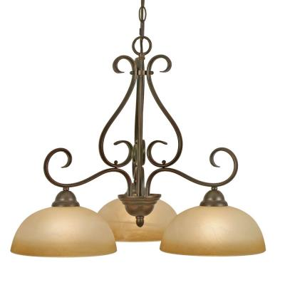Golden Lighting 1567-ND3 PC Riverton - 3 Light Nook Chandelier