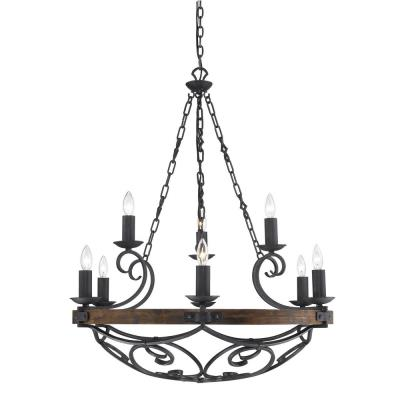 Golden Lighting 1821-9 BI Madera - Nine Light Chandelier