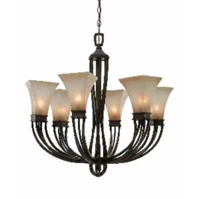 Golden Lighting 1850-6 RT Genesis -  Six Light Chandelier