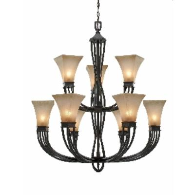Golden Lighting 1850-9 RT Genesis -  Nine Light Chandelier