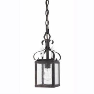 Golden Lighting 2049-M1L FB Valencia - One Light Mini-Pendant