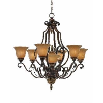 Golden Lighting 2501-7 NWB 7 Light Chandelier