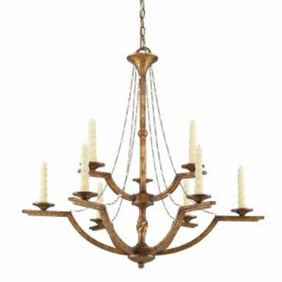 Golden Lighting 3071-9 GG Athena - Nine Light Chandelier