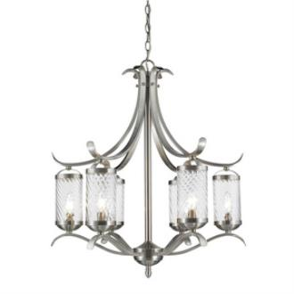 Golden Lighting 3082-6 PW Wynn - Six Light Chandelier
