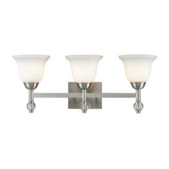 Golden Lighting 3500-BA3 PW Waverly - Three Light Bath Vanity