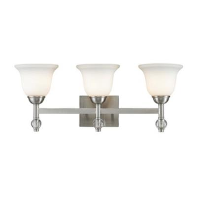 Golden Lighting 3500-BA3 PW Waverly - Three Light Bath Vanity