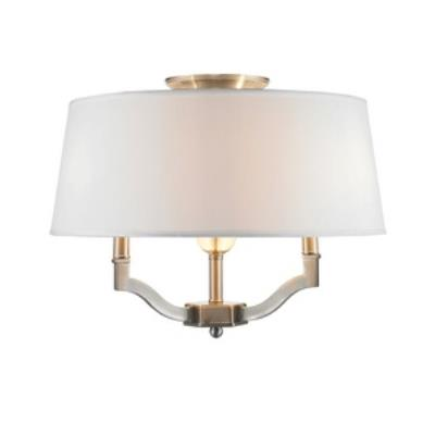 Golden Lighting 3500-SF PW Waverly - Three Light Convertible Semi-Flush Mount