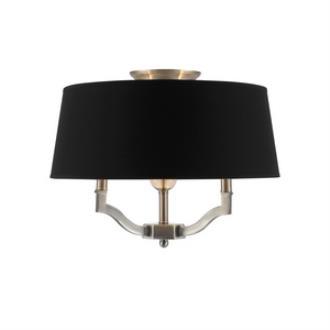 Golden Lighting 3500-SF PW Waverly - Three Light Convertible Semi-Flush Mount