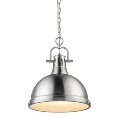 Golden Lighting 3602-L PW-PW Duncan - One Light Pendant