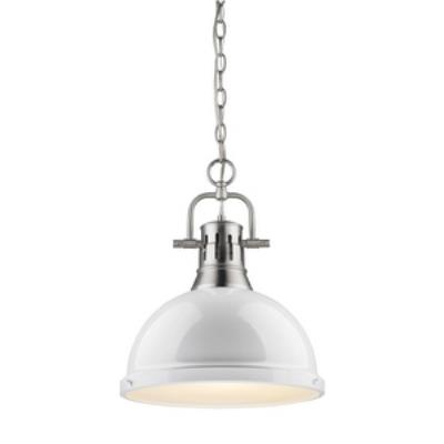 Golden Lighting 3602-L PW-WH Duncan - One Light Pendant