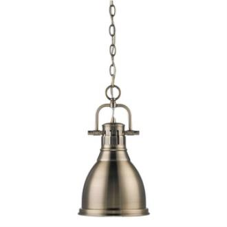 Golden Lighting 3602-S AB-AB Duncan - One Light Mini Pendant
