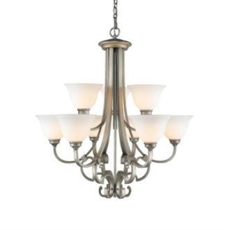 Golden Lighting 3711-9 PS Rockefeller - Nine Light 2-Tier Chandelier