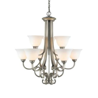 Golden Lighting 3711-9 PS Rockefeller - Nine Light 2-Tier Chandelier