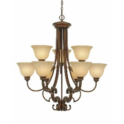 Golden Lighting 3711-9 CB 2 Tier Chandelier