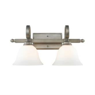 Golden Lighting 3711-BA2 PS Rockefeller - Two Light Bath Vanity