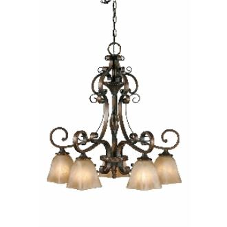 Golden Lighting 3890-D5 GB 5 Light Nook Chandelier