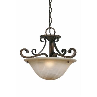 Golden Lighting 3890-SF GB Convertible Semi-Flush