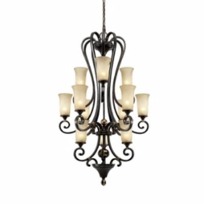Golden Lighting 3966-363 FB Portland 3 Tier Chandelier