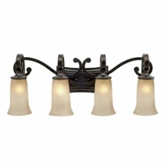 Golden Lighting 3966-BA4 FB Portland 4 Light Vanity