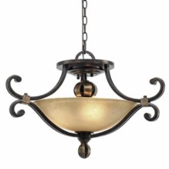 Golden Lighting 3966-SF FB Portland Convertible Semi-Flush