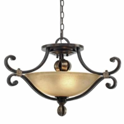 Golden Lighting 3966-SF FB Portland Convertible Semi-Flush