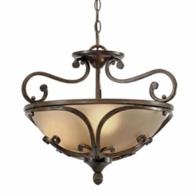 Golden Lighting 4002-SF RSB Loretto Convertible Semi-Flush