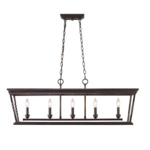 Davenport - Five Light Linear Pendant
