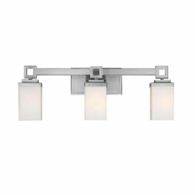 Golden Lighting 4444-BA3 PW Nelio - Three Light Bath Bar