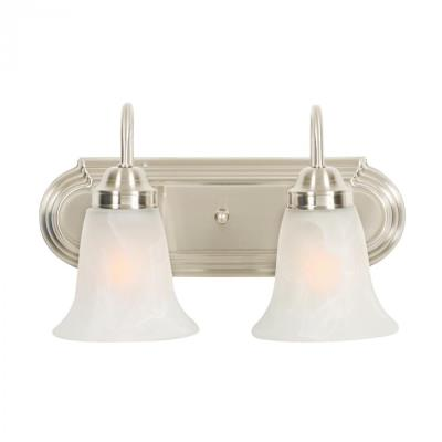Golden Lighting 5221-2 PW 2 Light Vanity