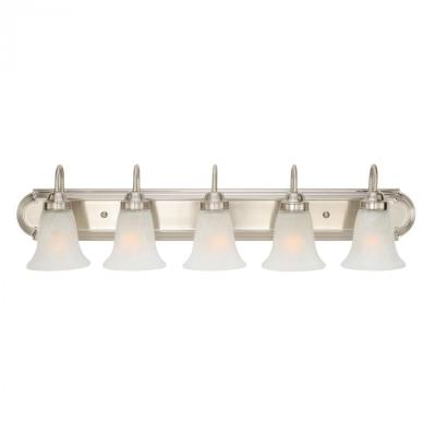 Golden Lighting 5221-5 PW 5 Light Vanity
