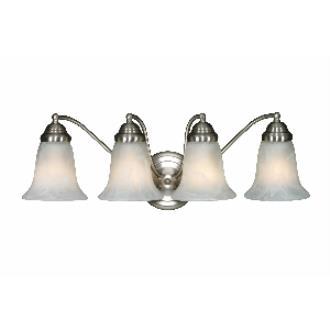 Golden Lighting 5222-4 PW 4 Light Vanity