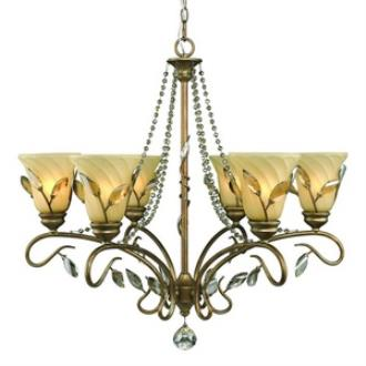 Golden Lighting 5400-6 RG Beau Jardin - Six Light Chandelier