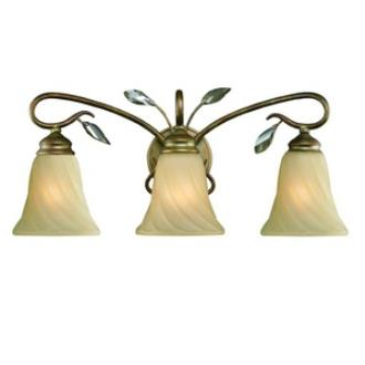 Golden Lighting 5400-BA3 RG Beau Jardin - Three Light Bath Vanity