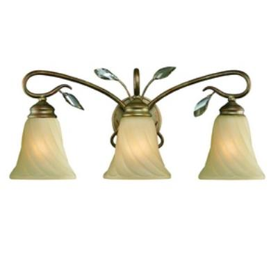 Golden Lighting 5400-BA3 RG Beau Jardin - Three Light Bath Vanity