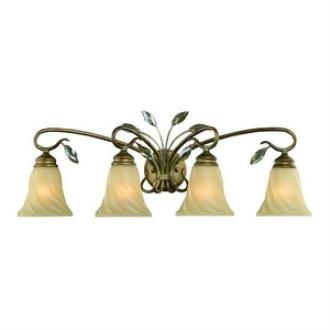 Golden Lighting 5400-BA4 RG Beau Jardin - Four Light Bath Vanity