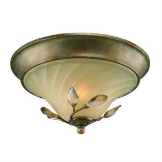Golden Lighting 5400-FM RG Beau Jardin - Two Light Flush Mount