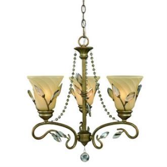Golden Lighting 5400-M3 RG Beau Jardin - Three Light Mini Chandelier