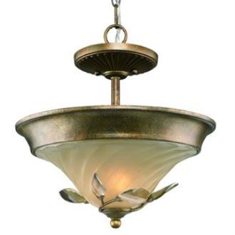 Golden Lighting 5400-SF RG Beau Jardin - Two Light Convertible Semi-Flush Mount