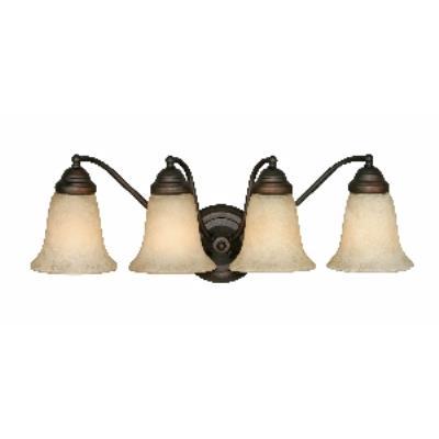 Golden Lighting 5664 RBZ 4 Light Vanity