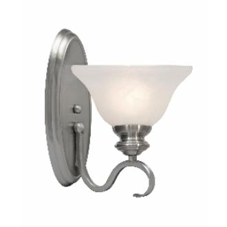 Golden Lighting 6005-1W PW 1 Light Wall Sconce